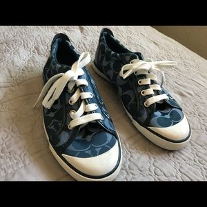Navy Coach Shoes Size 8